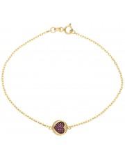 Złota bransoleta z cyrkoniami