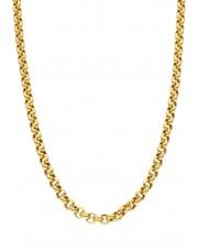 Złoty gruby łańcuszek rolo 50 cm