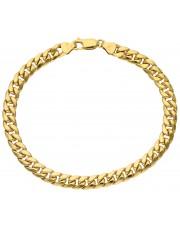 Złota bransoletka pancerka 19 cm
