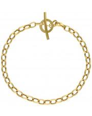 Złota bransoleta rolo 19 cm