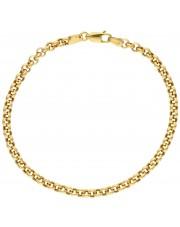 Złota bransoletka rolo 19 cm