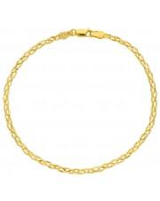 Złota bransoleta o ciekawym splocie