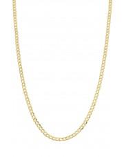 Złoty łańcuszek pancerka 45 cm