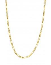 Złoty łańcuszek figaro 50 cm