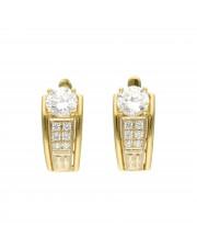 Eleganckie złote kolczyki z cyrkoniami