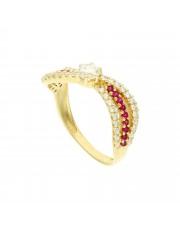 Złoty pierścionek fala