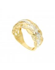Złoty pleciony pierścionek