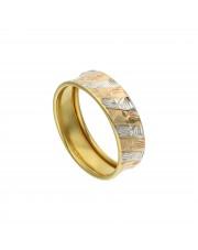 Złoty pierścionek obrączka w dwóch kolorach