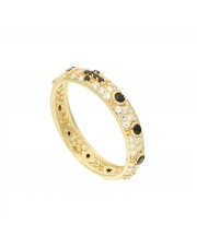 Złoty pierścionek różaniec obrączka