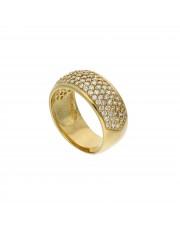Złoty pierścionek obrączka z cyrkoniami 333
