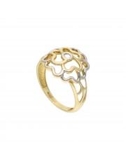 Złoty pierścionek ażurowy kwiatek