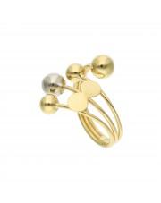 Złoty pierścionek z kulkami