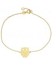 Złota bransoletka celebrytka z sową