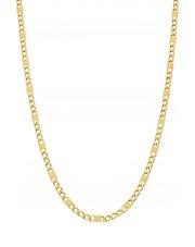 Złoty oryginalny łańcuszek figaro 50 cm