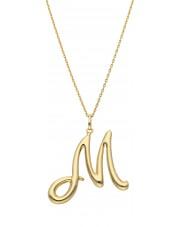 Duża złota zawieszka literka M
