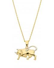 Złota zawieszka znak zodiaku Byk