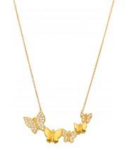 Złota celebrytka w motyle
