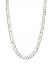 Solidny srebrny łańcuszek pancerka 65 cm