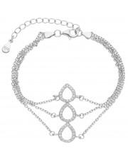 Srebrna bransoleta z cyrkoniami