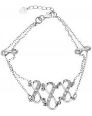 Niezwykła srebrna bransoleta z cyrkoniami