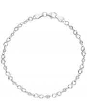 Srebrna bransoleta z motywem znaku nieskończoności