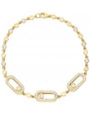 Piękna złota bransoleta z cyrkoniami