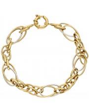Oryginalna bransoleta z żółtego i białego złota