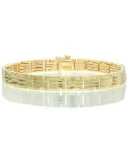 Złota solidna męska bransoleta 23 cm