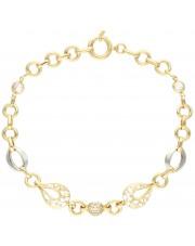 Subtelna ażurowa bransoletka ze złota