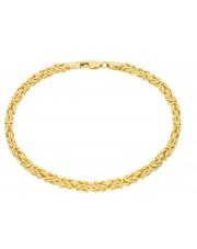 Złota, solidna bransoletka królewska