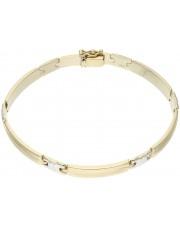 Złota sztywna bransoleta