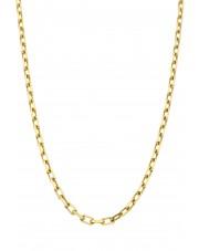 Złoty pełny kuty łańcuszek ankier 55 cm