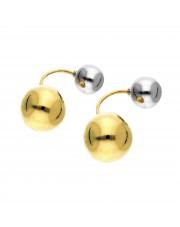 Złote kolczyki kulki