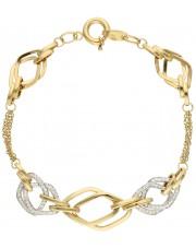 Wieloelementowa złota bransoletka
