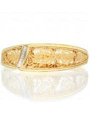 Złota sztywna bransoletka GRAZIELLA
