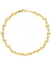 Piękna złota bransoletka z diamentowanymi kulkami