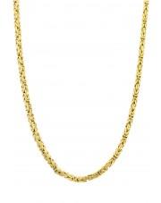 Złoty łańcuszek królewski 55 cm