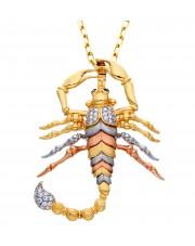 Duża złota zawieszka skorpion