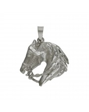 Srebrna zawieszka głowa konia