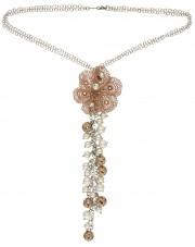 Oryginalny srebrny naszyjnik z perłami
