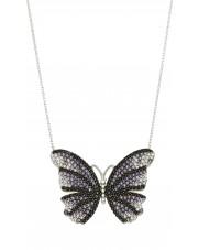 Srebrny naszyjnik z motylem