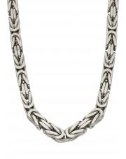 Masywny srebrny łańcuch królewski 65 cm
