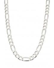 Srebrny łańcuszek figaro 55 cm