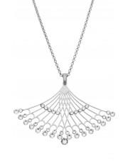 Ażurowy srebrny naszyjnik z cyrkoniami