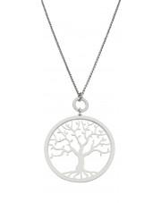 Srebrny naszyjnik drzewko szczęścia