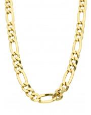 Masywny złoty łańcuszek figaro