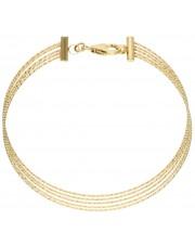 Złota sztywna bransoletka z zapięciem