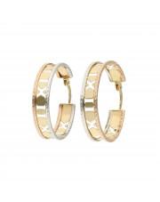 Ażurowe kolczyki koła w trzech kolorach złota