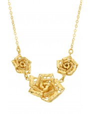 Złoty naszyjnik z różami