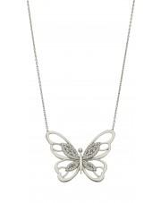 Srebrny naszyjnik motyl
